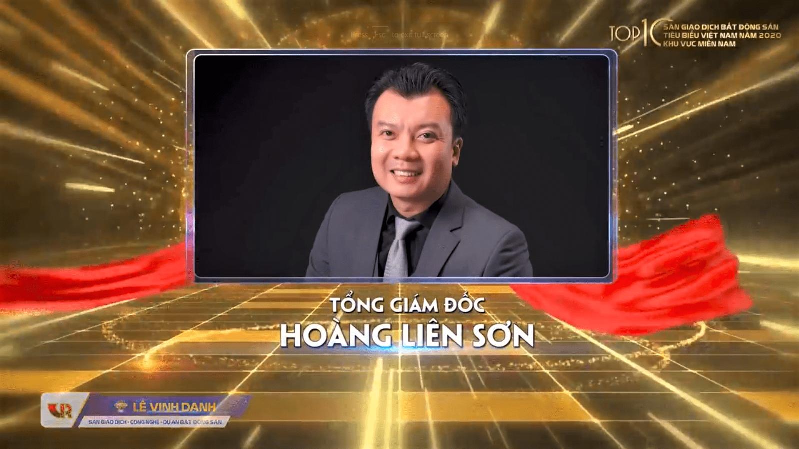 Ông Hoàng Liên Sơn - Tổng Giám đốc AlphaReal